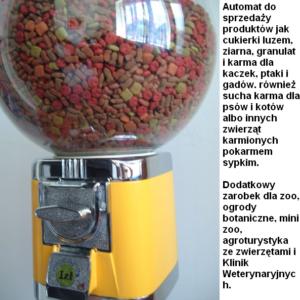 Automat do sprzedaży Wielki Glob wyposażony w dozownik regulujący dawkę produktu z wrzutnikiem Beaver